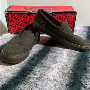 Vans Black Slip On Sneakers